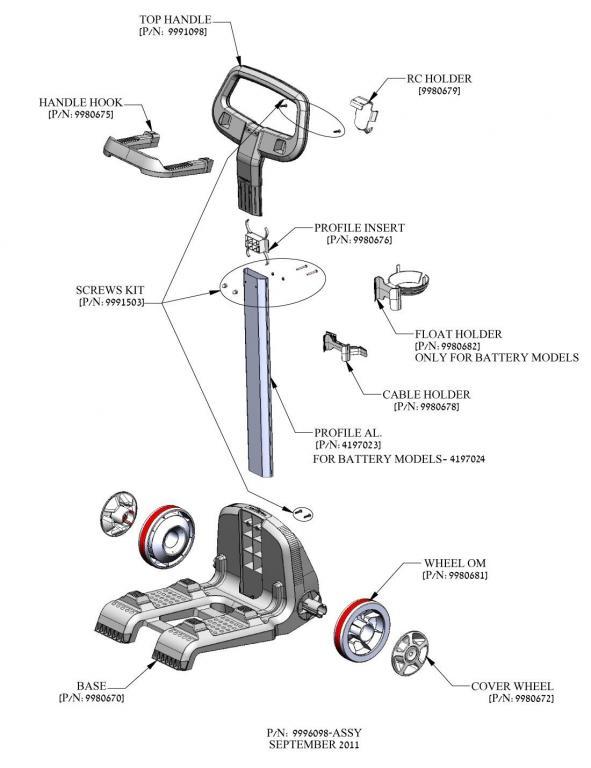 Parts Diagram - Maytronics Dolphin 9996098-ASSY Caddy