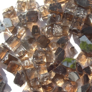 "1/2"" Copper Reflective Fire Pit or Fireplace Glass - 10 lbs"
