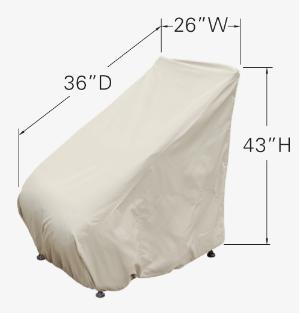 Treasure Garden Protective Patio Furniture Cover CP113 Dimensions