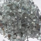 "1/2"" Crystal White Reflective Fire Pit or Fireplace Glass - 10 lbs"