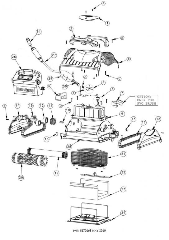 Parts Diagram - Maytronics Deluxe 3