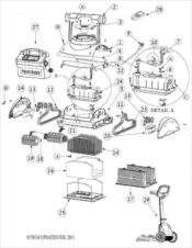 Parts Diagram - Maytronics Dolphin Deluxe 5 Robotic Pool Cleaner