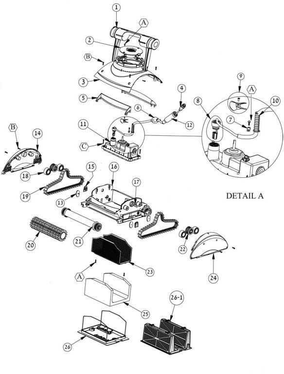 Parts Diagram - Maytronics Dolphin Doheny's Discovery