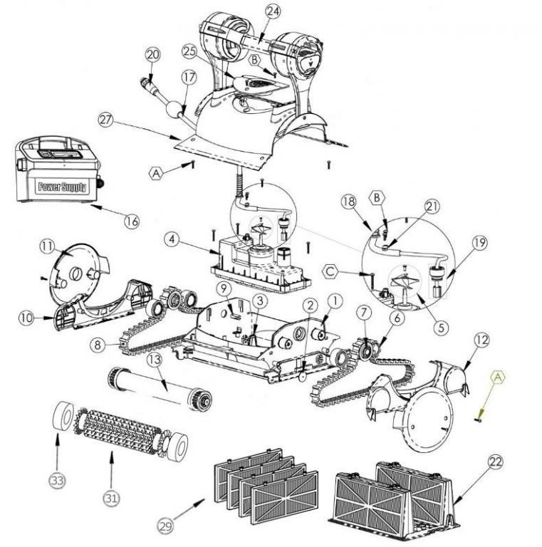 Parts Diagram Maytronics Dolphin Premier