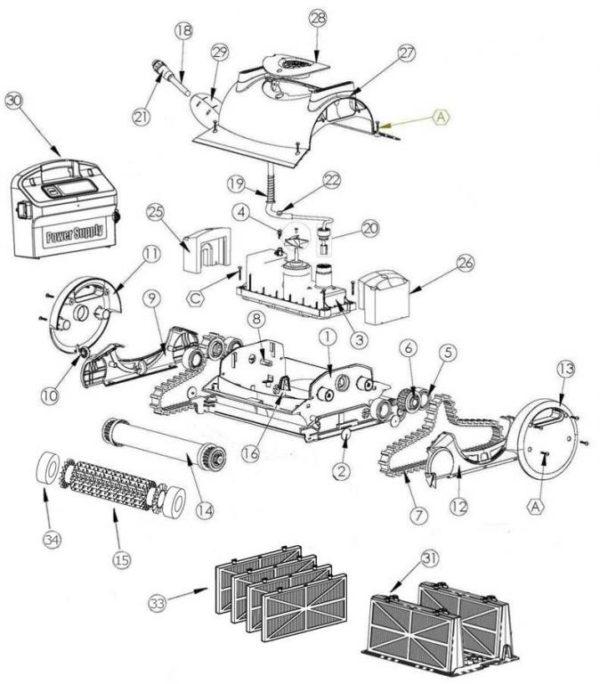 Parts Diagram - Maytronics Dolphin Quest