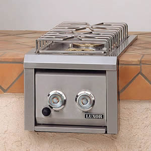 Luxor Stainless Steel Double Side Burner - Built In - NG or LP