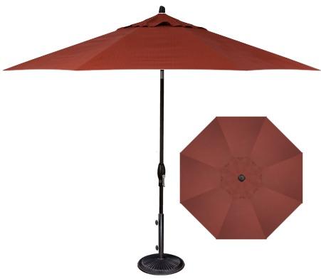 Dupione Henna Fabric 9' Market Umbrella