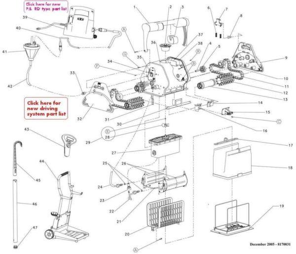 Parts Diagram - Maytronics Dolphin DX5 Battery