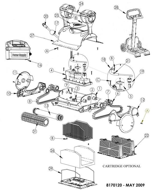 Parts Diagram - Maytronics Dolphin Edge