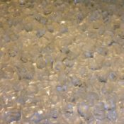 """1/4"""" Diamond White Fire Pit or Fireplace Glass - 10 lbs"""