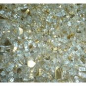 "1/2"" Gold Reflective Fire Pit or Fireplace Glass - 10 lbs"