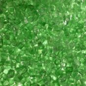 """1/4"""" Green Fire Pit or Fireplace Glass - 10 lbs"""