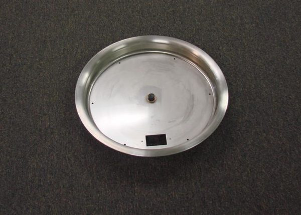 "Build Your Own Firepit! 31"" Stainless Steel Fire Pit Pan - Bowl Style - for Match Lit or Remote Electronic Ignition Fire Pits"