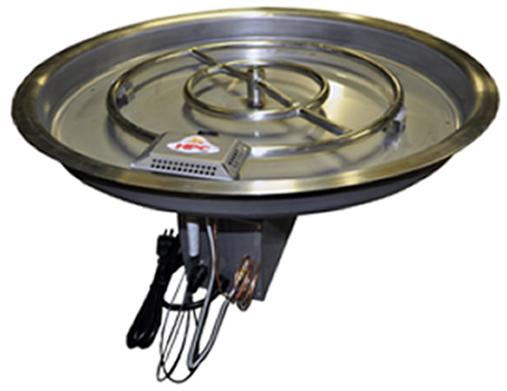 "Build Your Own Firepit! 13"" Complete Drop-In Remote Electronic Ignition Fire Pit Kit - EVERYTHING BUT THE SURROUND!"