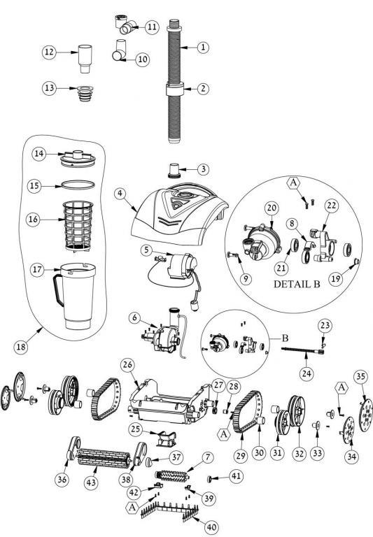 Parts Diagram - Maytronics Dolphin Hybrid