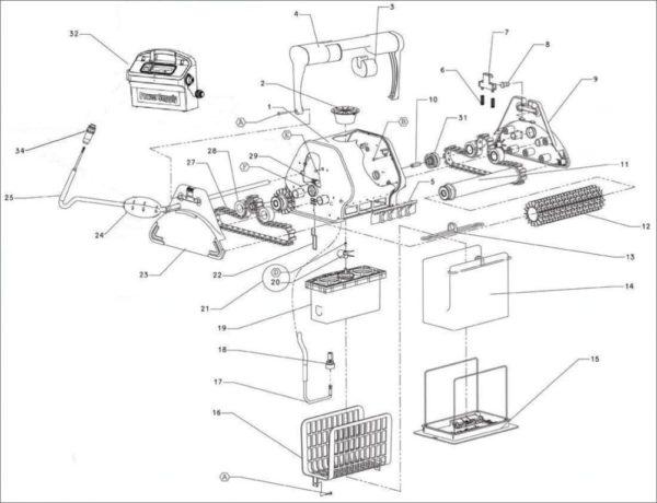 Parts Diagram - Maytronics Dolphin Interactive