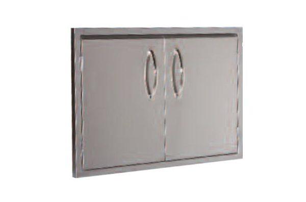 "Luxor Stainless Steel Double Door 42"" - ""Medallion Series"""