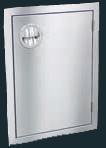 "Luxor Stainless Steel Vertical or Horizontal Single Door - ""Slimline Series"""