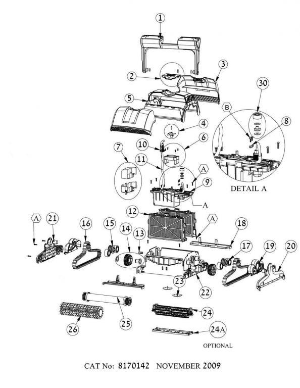 Parts Diagram - Maytronics Dolphin Supreme M4