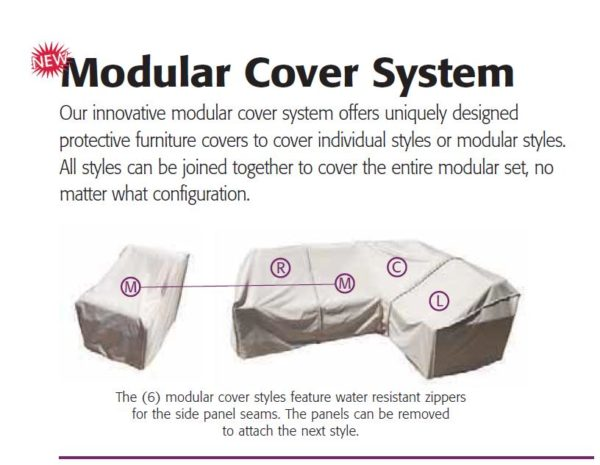 Treasure Garden Protective Patio Furniture Cover CP402 Modular Armless - Middle
