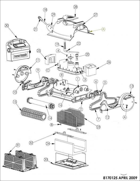 Parts Diagram - Maytronics Nautilus Robotic Pool Cleaner