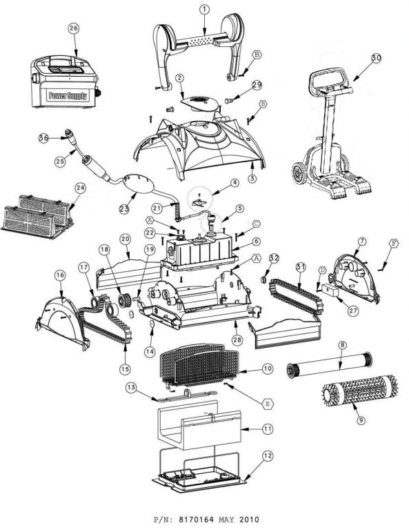 Parts Diagram - Maytronics Neptune Plus