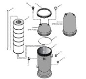 Pentair Posi-Clear Filter - Parts Diagram