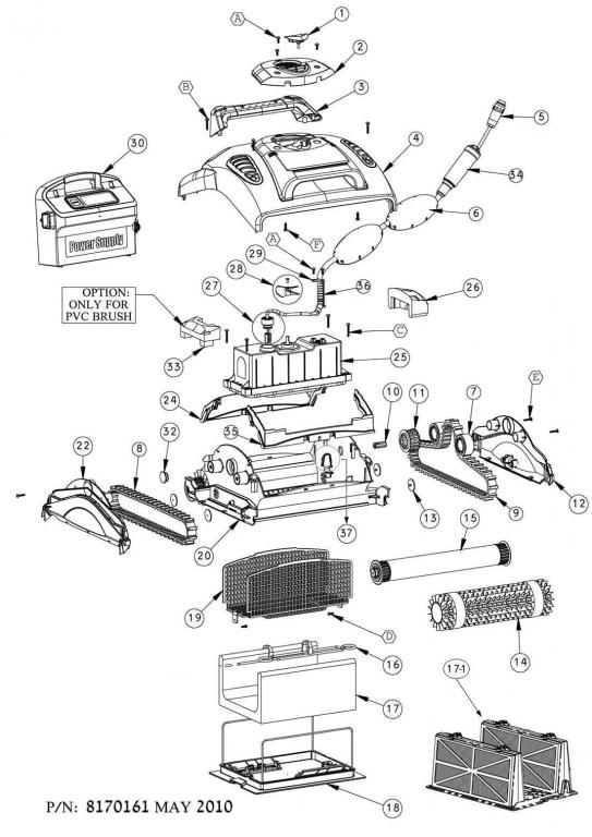 Parts Diagram - Maytronics Primal X3