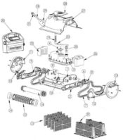 Parts Diagram - Pentair Kreepy Krauly Prowler 820