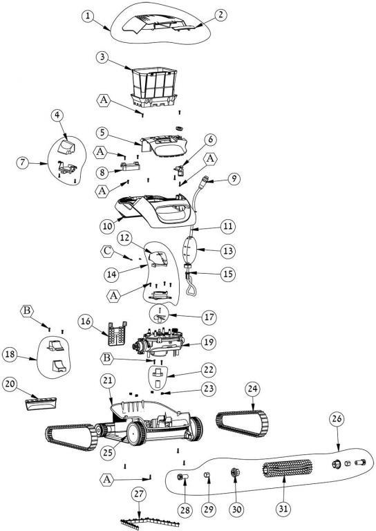 Parts Diagram - Maytronics S50
