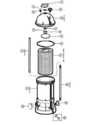 Hayward Star-Clear Plus Filter - Parts Diagram