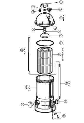Hayward Star-Clear Plus Filter - Parts Diagram