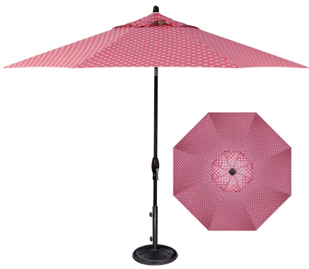 Hot Pink Polka Dot 9' Market Umbrella