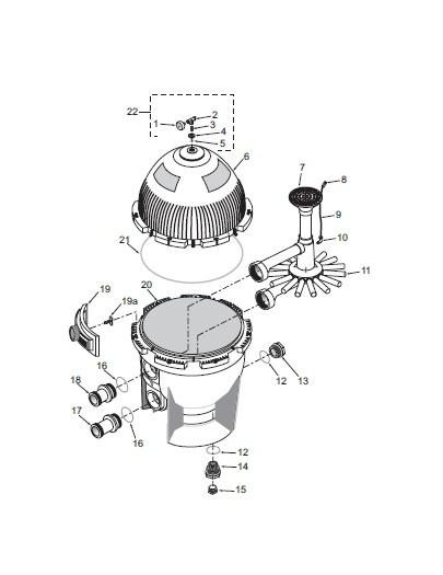 Pentair System 3 Sand Filter - Parts Diagram