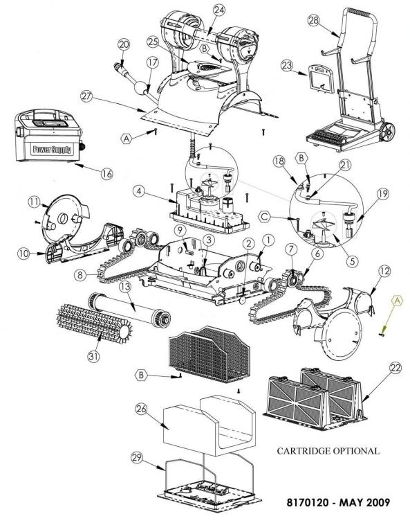 Parts Diagram - Maytronics Triton Robotic Pool Cleaner
