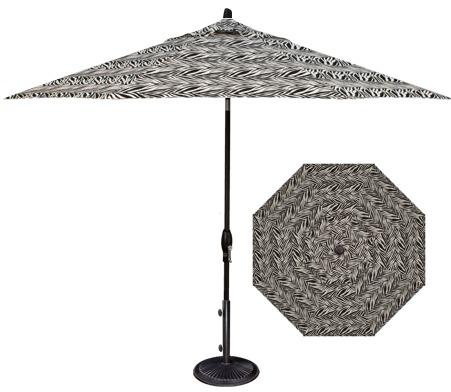 Zebra Print 9' Market Umbrella